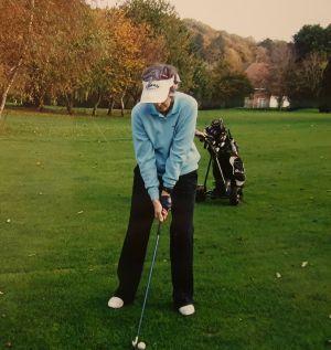 Wendy playing golf