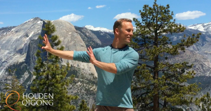 Lee Holden in a Qi Gong pose